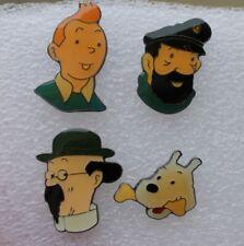 4 Pins Tintin Hergé . Kuifje .