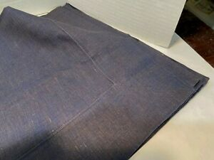"LINEN TABLE CLOTH  63""X63'  NAVY BLUE 100% LINEN BRAND NEW"