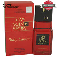 One Man Show Ruby Cologne 3.3 oz EDT Spray for MEN by Jacques Bogart