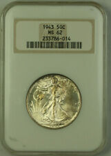 1943 Walking Liberty Half Dollar 50c Silver Coin NGC MS-62 Toned *Better* JAB