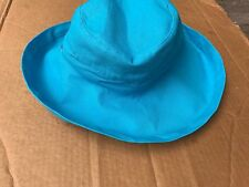 Scala Womens Cotton Big Brim Hat, turquoise One Size