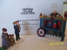 Dept 56 Dickens Village ~ The Old Puppeteer ~ Mint In Box #58025