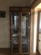 vintage glass cabinet display