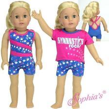 "Gymnastics Biketard and Slouchy Tee 2 Piece Set fit 18"" American Girl Doll"