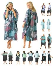 Hooded Poncho Towel Changing Robe, Adult Beach Towel for Surf Kitesurf Swim
