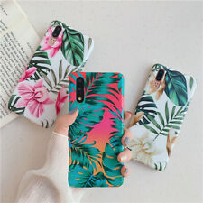 For Huawei P30 P40 Lite Mate20 Pro Soft Phone Cases Glossy Elegant Flower Leaf