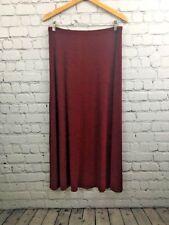 Softwear Mark Singer Slinky Red Travellers Skirt Long Maxi Sz Large