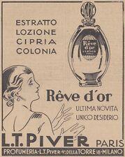 V0597 Reve d'Or - L.T. Piver Paris - Pubblicità d'epoca - 1931 old advertising