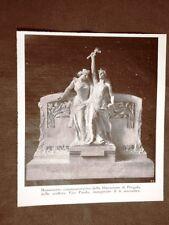 Pergola 6 novembre 1910 Inaugurazione monumento Liberazione di Vito Pardo
