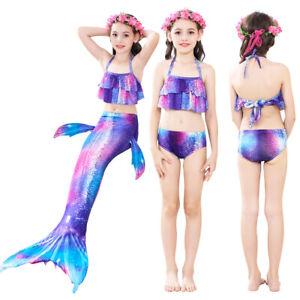 Licht Lila Meerjungfrau Schwanz Bikini mit Monoflosse Kinder Schwimmen Mädchen