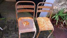 Meuble Métier Vintage 2 Chaises TOLIX Bistrot Terrasse Métal Industrielle 1960