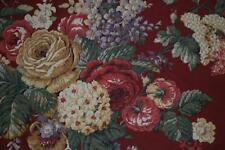 Dan River Red Floral King Ruffled Pillow Sham Nnp