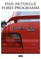 Ford Prospekt 1991 8/91 Fiesta XR2i Sierra Cosworth Escort RS 2000 brochure Auto
