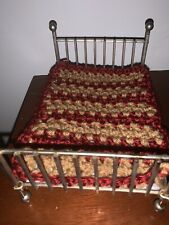 Miniature Dollhouse Afghan 6 By 5 Inches