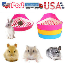 Geometric Plastic Pet Toilet Animal Litter Tray for Hamster Pig Rabbit Portable