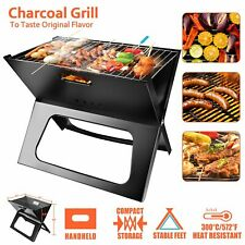 Foldable Barbecue Grill Charcoal Stove Shish Kabob Stainless Steel Patio Camping