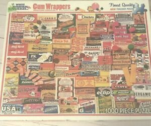 1000 PC Gum Wrappers #885 White Mountain Jigsaw Puzzle Vintage Brands