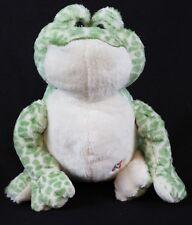 "Webkinz Spotted Frog Plush Hm142 Ganz Green Cream No Code 8"""