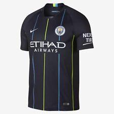 2018/19 Manchester City Football Club Away Blue Stadium Jersey Soccer Large