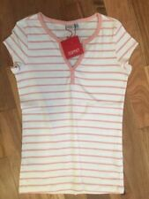 Cotton Blend Basic Tees Striped T-Shirts for Women