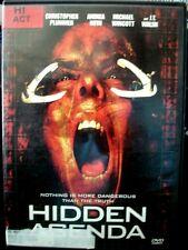 Hidden Agenda (DVD, 2001) Kevin Dillon WORLDWIDE SHIP AVAIL!