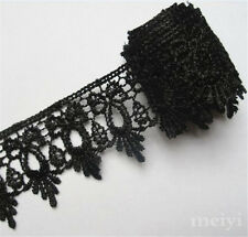 1 Yards Black Fabric Polyester Applique Venise Lace Edge Trims DIY Sewing Crafts