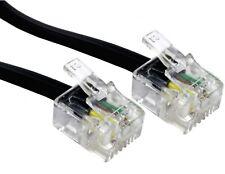 15m RJ11 ASDL Cable Black HIGH SPEED Broadband Modem 15 Metre Plug to Plug Lead