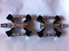 """WELLGO BICYCLE PEDALS 9/16"""" ALLOY KRATON TOP CRUISER BMX MTB CYCLING BIKES NEW"""