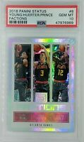 2018 Panini Status Factions Holo Trae Young Huerter Rookie RC #8, PSA 10, Pop 3