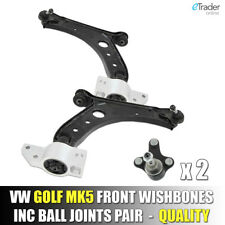 VW Golf Mk6 2009-2015 Lower Front Wishbones Suspension Arms Pair Wishbone Arm x2
