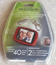 Digital Picture Frame Keychain Insignia New Sealed Red Photo Frame 1.8 LCD
