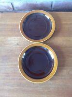 Hornsea Bronte Brown Soup Bowl Stand Saucer X 2 John Clappison Retro