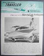 1961 Arkansas Traveler Boats Monthly Seaho Fiber Glass Cabin Cruiser Brochure