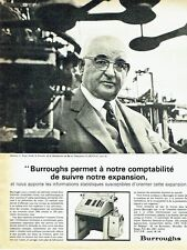 PUBLICITE ADVERTISING 037  1964  Burroughs machine comptable Mr Perge La Bonnal