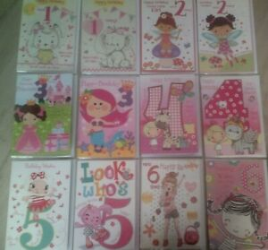 HAPPY BIRTHDAY CARD*FOR GIRL*AGES 1,2,3,4,5,6 AVAILABLE*CHOOSE DESIGN*GREETING*