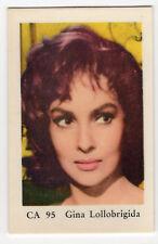 1960s Swedish Film Star Card CA 95 Italian Actress Sex Symbol Gina Lollobrigida