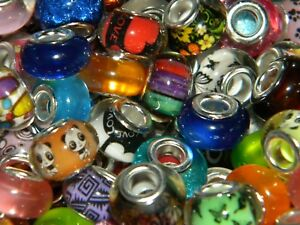 NEW 300/Pc COLORFUL High Visual Mixed 14mm RESIN European Beads lot (200)
