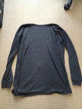 Lamixx Open Back Tailor Knit Grey Sweater Jumper Small S