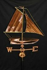 Sailboat Weathervane Polished Copper Brass