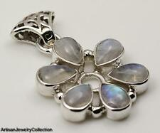 RAINBOW MOONSTONE & 925 STERLING SILVER PENDANT JEWELRY  Y940A
