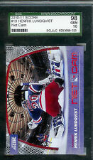 "2010-11 HENRIK LUNDQVIST SCORE NET CAM #19 RANGERS SGC 98 GEM MINT "" THE KING """