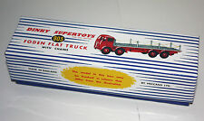 DINKY Reproduction Box 905 Foden Flat Truck With Chains RED
