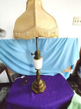 VINTAGE SOLID BRASS TABLE LAMP WITH SHADE 36 INCHES HIGH