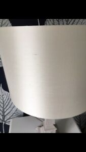 "Laura Ashley Custom Made Ivory Silk Lampshade 17"" Width & 11"" Depth"