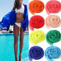 Sexy beach cover up women's sarong summer bikini cover-ups wrap dress towel ES