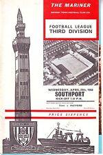 GRIMSBY TOWN V SOUTHPORT 24 APRIL 1967  + FOOTBALL LEAGUE REV VOL 2 NUMB 2 VGC