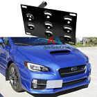 Bumper Tow Hook License Plate Mounting Bracket For Subaru WRX Forester Impreza
