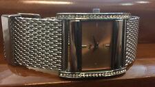 Luxury Designer Women's Taxi Watch Rectangular with Milanese Bracelet