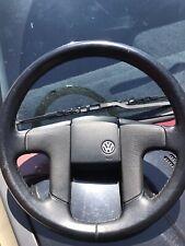 VW CORRADO MK2 MK3 VR6 STEERING WHEEL OEM LEATHER WRAPPED