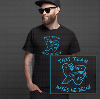Carolina Panthers This Team Makes Me Drink T-Shirts | Shirt Beer My Jersey Funny
